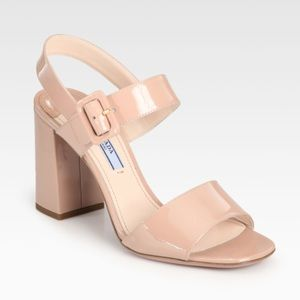 Prada tan leather sandals